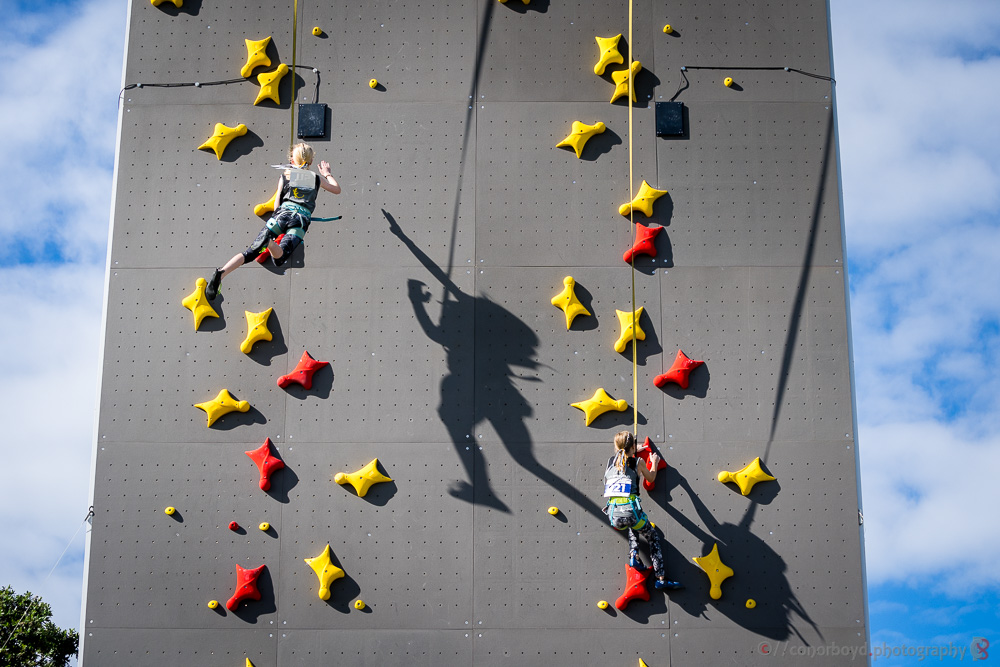 Action from 20/21 Speedclimbing Champs
